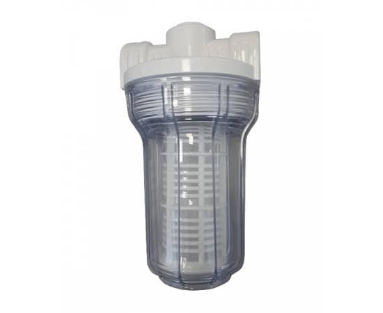"""5"""" SL корпус прозрачный, с сетчатым фильтром, вх/вых 1/2"""""""