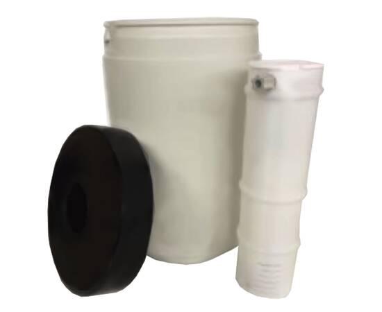 Солевой бак на 25 л, круглый в комплекте с распределительной системой