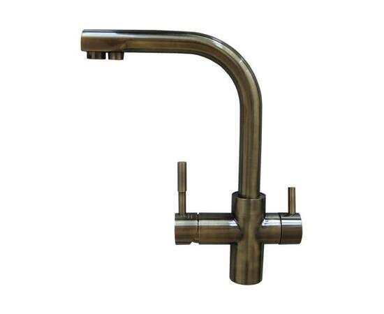 Кран чистой воды совмещенный со смесителем, Antique Brass (античная бронза)