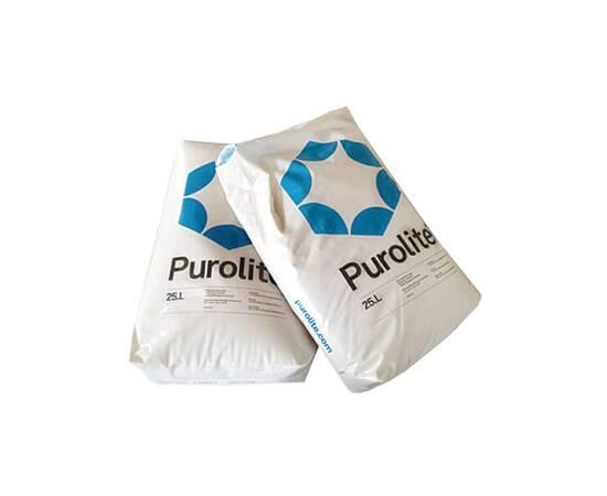Смола катионит Purolite C100E (Пьюролайт) - для удаления жесткости питьевой воды ( мешок 25 л)